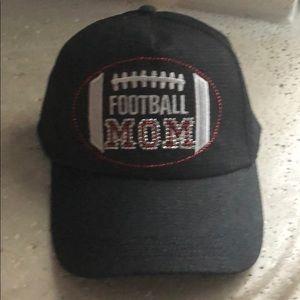 Football mom black denim baseball cap.  NWT.